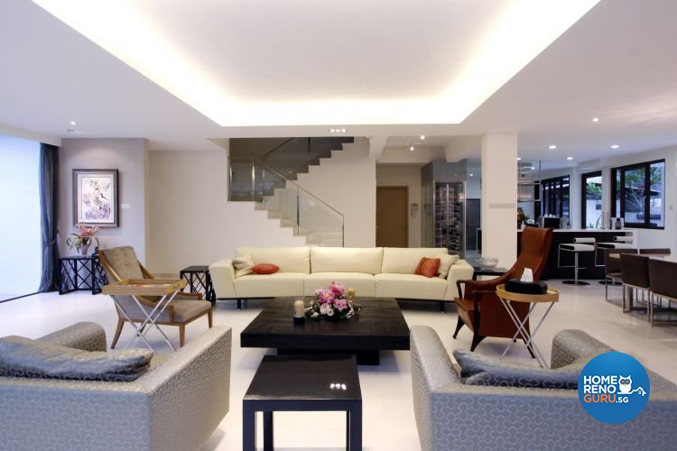 Contemporary, Modern Design - Living Room - Landed House - Design by Designscale Pte Ltd