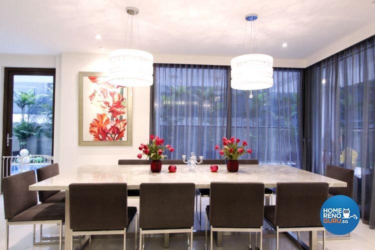 Contemporary, Modern Design - Dining Room - Landed House - Design by Designscale Pte Ltd