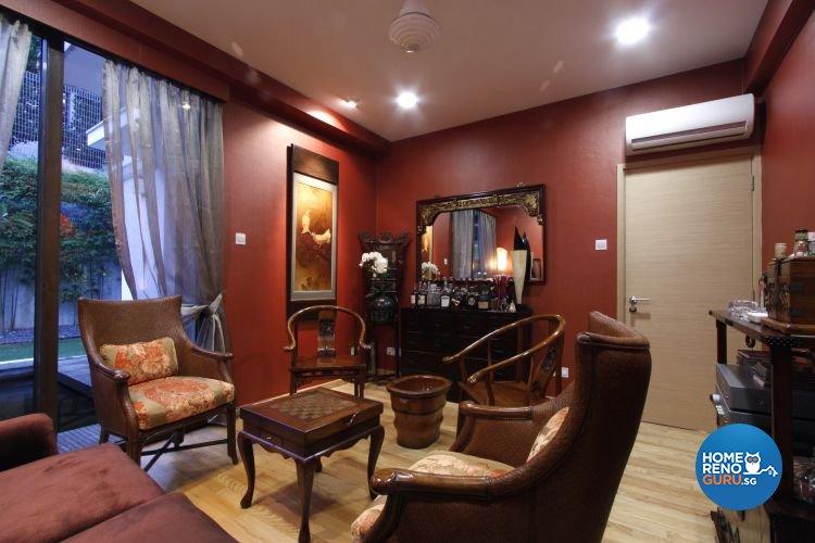 Contemporary, Modern Design - Study Room - Landed House - Design by Designscale Pte Ltd