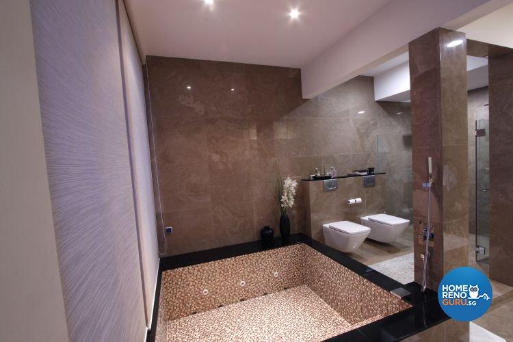 Contemporary, Modern Design - Bathroom - Landed House - Design by Designscale Pte Ltd