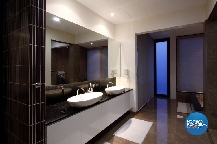 Contemporary, Modern Design - Bathroom - Landed House - Design by Designscale Pte Ltd
