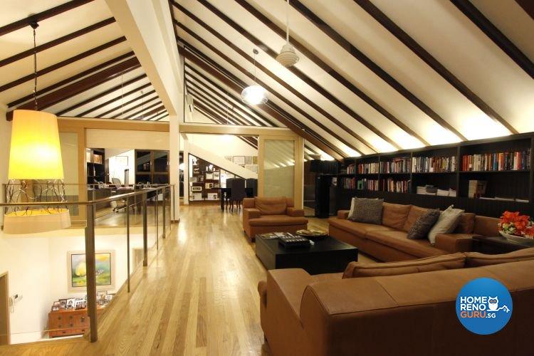 Contemporary, Modern Design - Entertainment Room - Landed House - Design by Designscale Pte Ltd