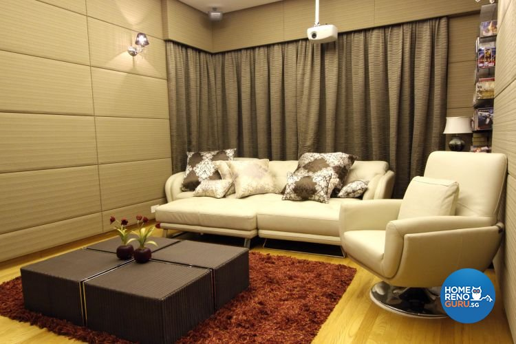 Contemporary, Modern Design - Entertainment Room - Landed House - Design by Designscale Pte Ltd