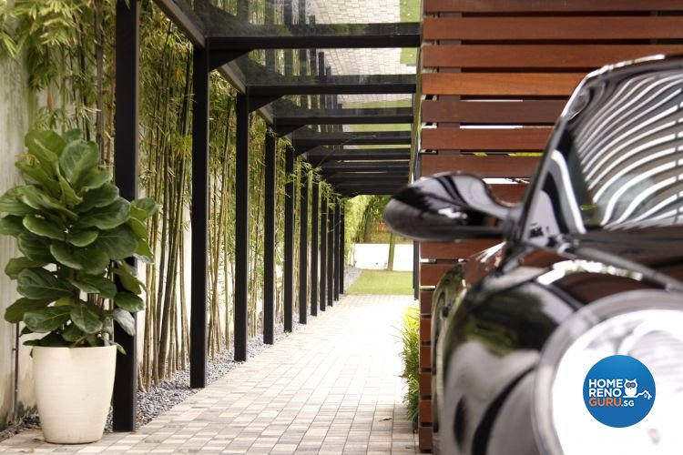 Contemporary, Modern Design - Balcony - Landed House - Design by Designscale Pte Ltd