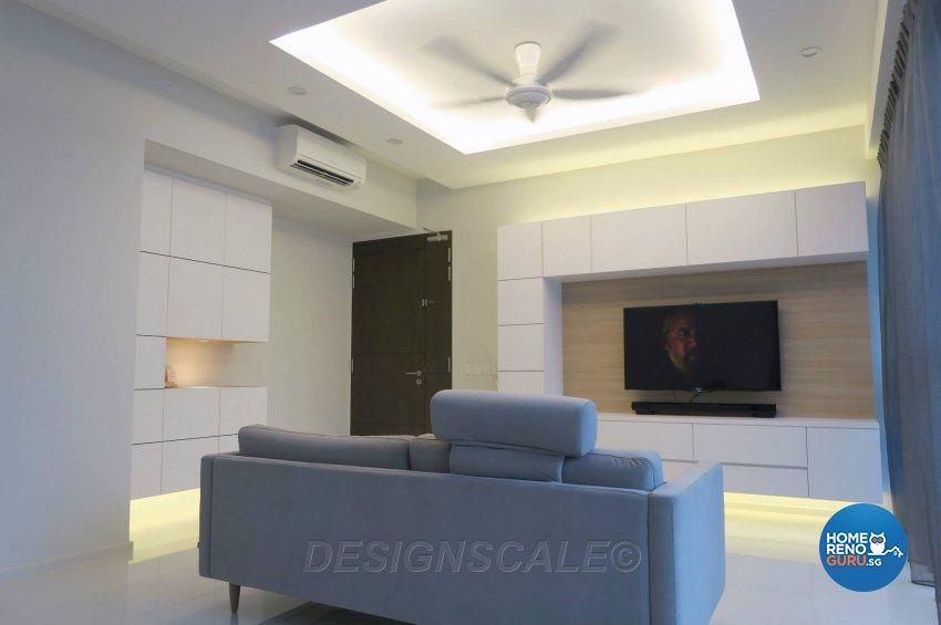 Contemporary, Modern Design - Living Room - Condominium - Design by Designscale Pte Ltd