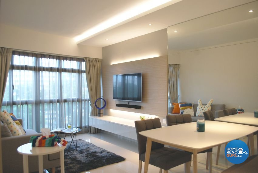 Minimalist, Modern, Scandinavian Design - Living Room - HDB 4 Room - Design by Designscale Pte Ltd