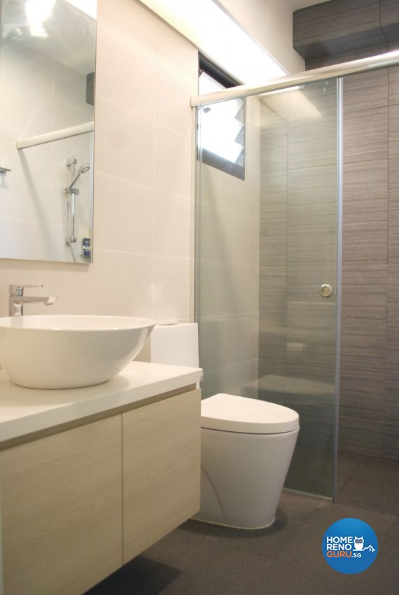 Minimalist, Modern, Scandinavian Design - Bathroom - HDB 4 Room - Design by Designscale Pte Ltd