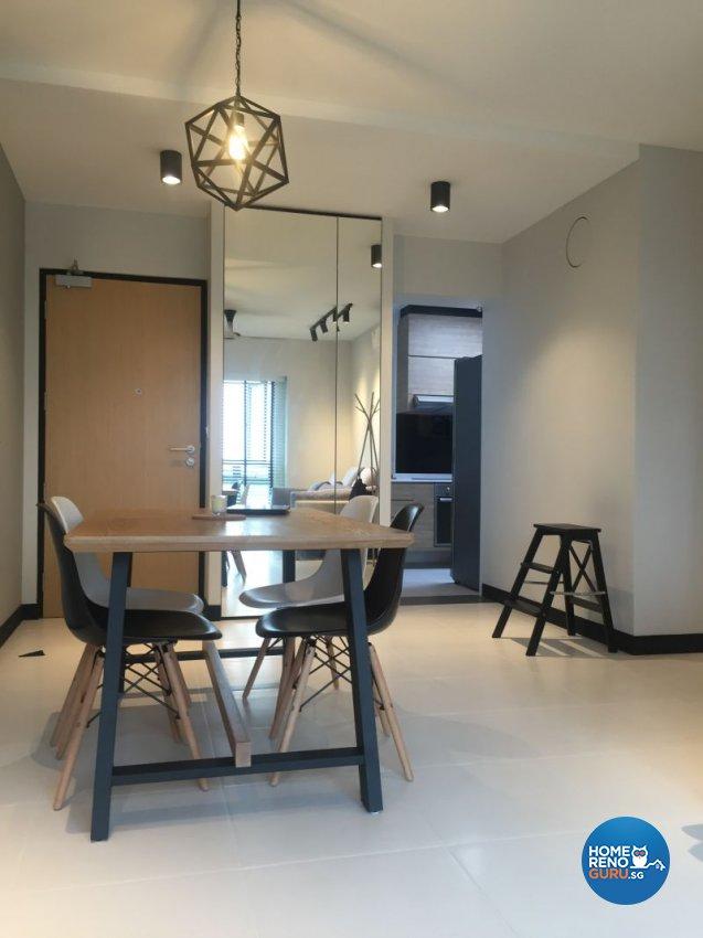Contemporary, Minimalist, Scandinavian Design - Living Room - HDB 4 Room - Design by Designscale Pte Ltd