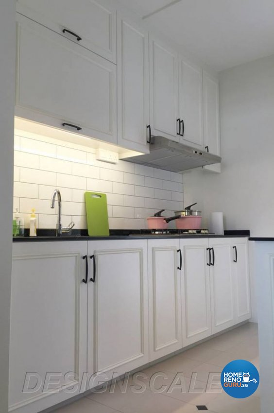 Contemporary, Minimalist, Victorian Design - Kitchen - HDB 4 Room - Design by Designscale Pte Ltd