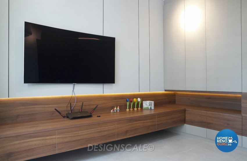 Modern Design - Living Room - HDB 4 Room - Design by Designscale Pte Ltd