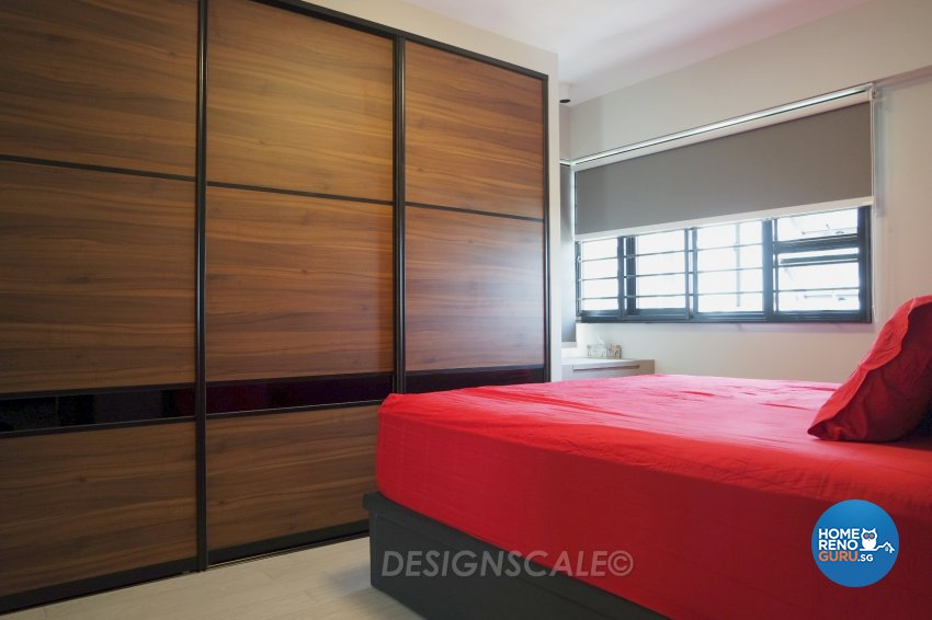 Modern Design - Bedroom - HDB 4 Room - Design by Designscale Pte Ltd