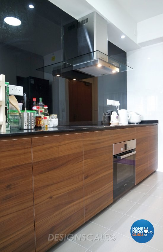 Modern Design - Kitchen - HDB 4 Room - Design by Designscale Pte Ltd