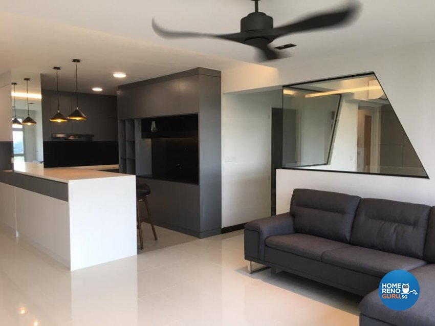 Contemporary Design - Living Room - HDB 5 Room - Design by Designscale Pte Ltd