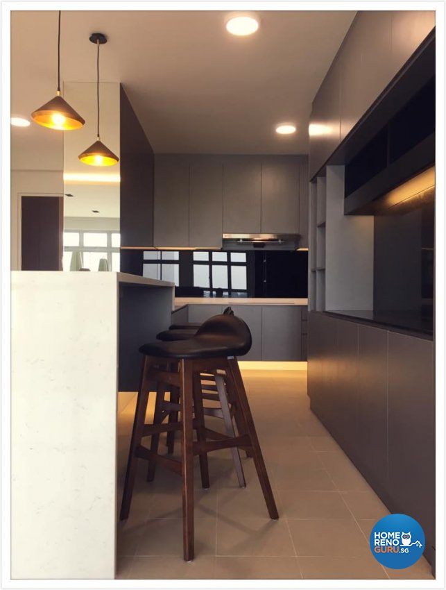Contemporary Design - Kitchen - HDB 5 Room - Design by Designscale Pte Ltd