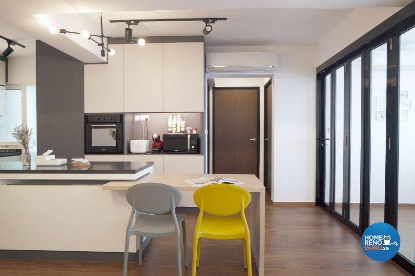 Modern, Scandinavian Design - Living Room - HDB 4 Room - Design by Designscale Pte Ltd