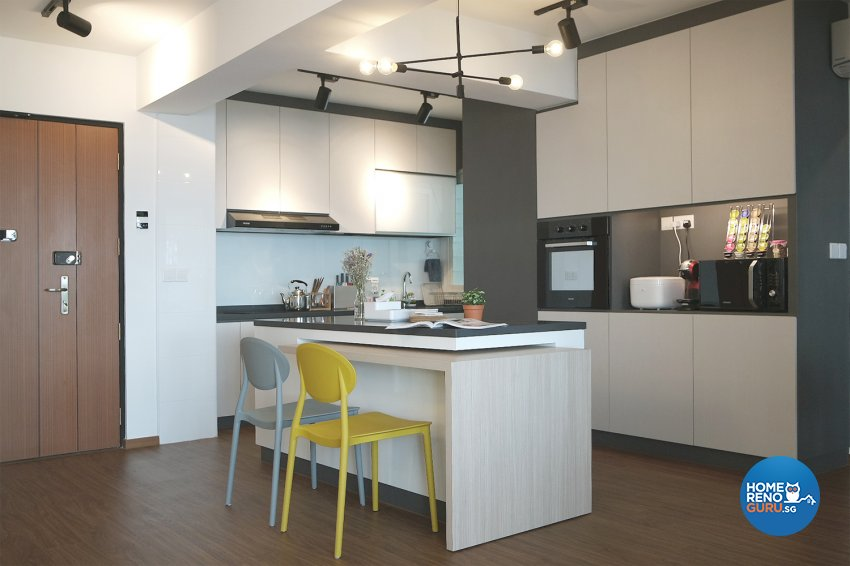Modern, Scandinavian Design - Dining Room - HDB 4 Room - Design by Designscale Pte Ltd
