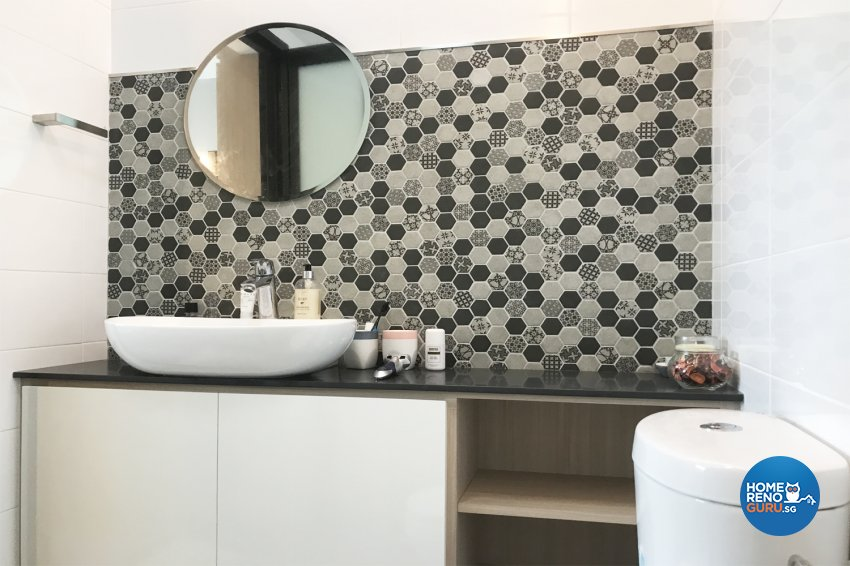 Modern, Scandinavian Design - Bathroom - HDB 4 Room - Design by Designscale Pte Ltd