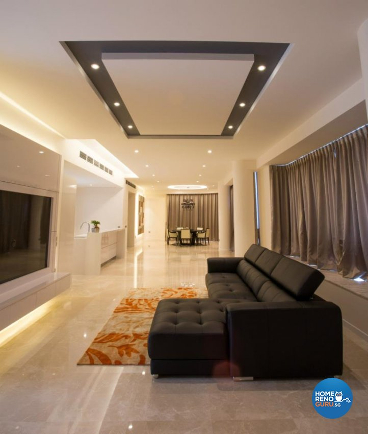 Contemporary, Modern Design - Living Room - Condominium - Design by Designscale Pte Ltd