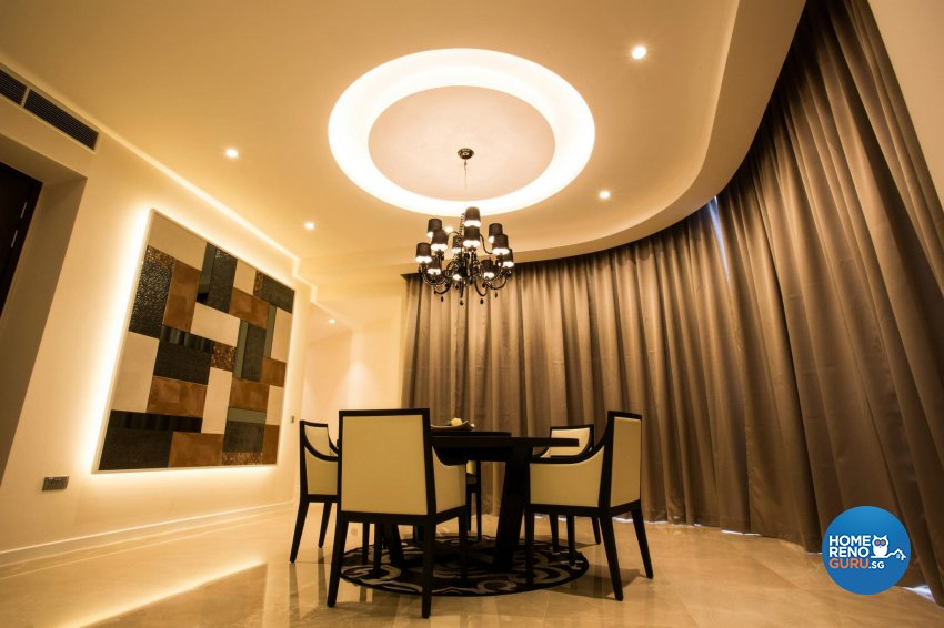 Contemporary, Modern Design - Dining Room - Condominium - Design by Designscale Pte Ltd