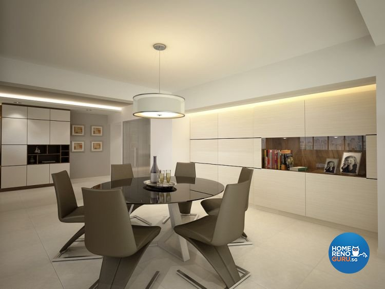 Contemporary, Modern Design - Dining Room - HDB 5 Room - Design by Designscale Pte Ltd