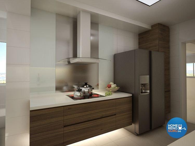 Contemporary, Modern Design - Kitchen - HDB 5 Room - Design by Designscale Pte Ltd