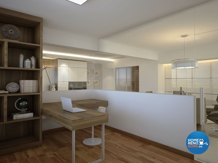 Contemporary, Modern Design - Study Room - HDB 5 Room - Design by Designscale Pte Ltd