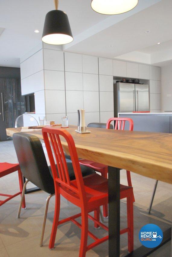 Contemporary, Modern Design - Dining Room - Condominium - Design by Designscale Pte Ltd