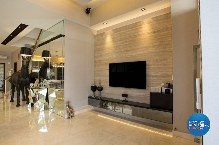 Classical, Contemporary, Modern Design - Living Room - Landed House - Design by Designscale Pte Ltd