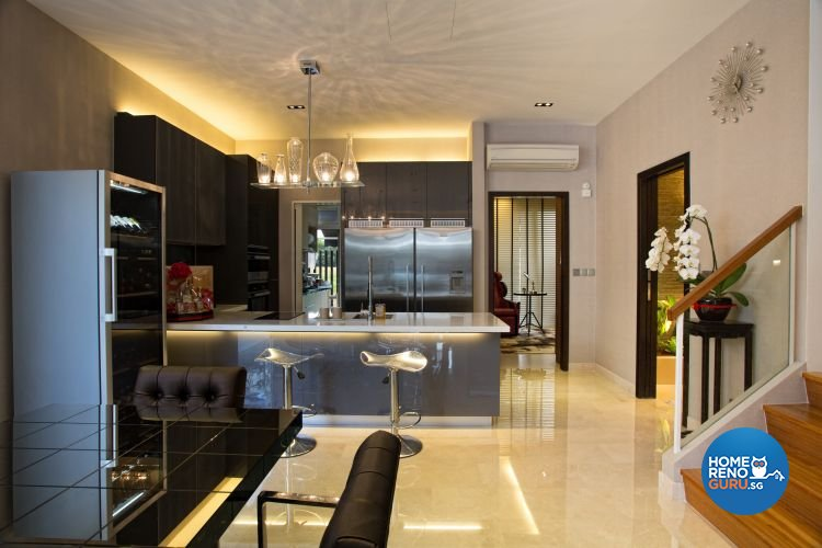 Classical, Contemporary, Modern Design - Dining Room - Landed House - Design by Designscale Pte Ltd