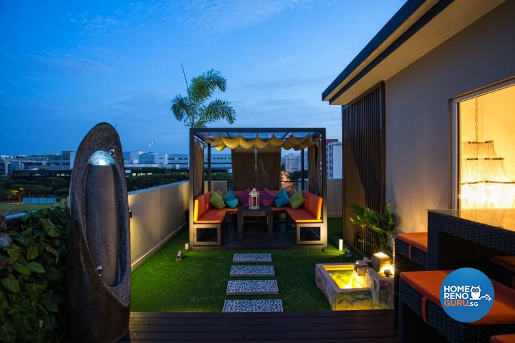 Classical, Contemporary, Modern Design - Balcony - Landed House - Design by Designscale Pte Ltd