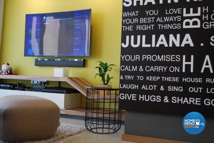Modern, Scandinavian Design - Living Room - Condominium - Design by Designscale Pte Ltd
