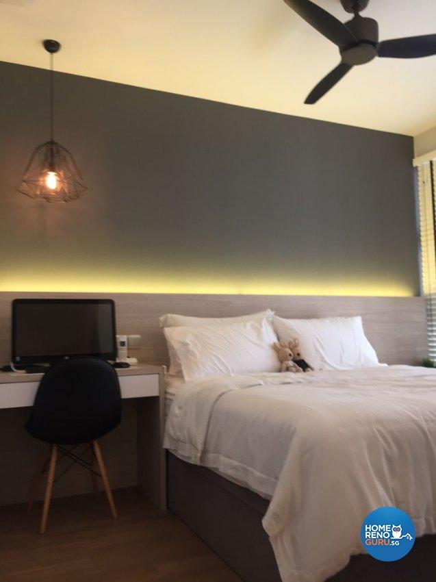 Modern, Scandinavian Design - Bedroom - Condominium - Design by Designscale Pte Ltd