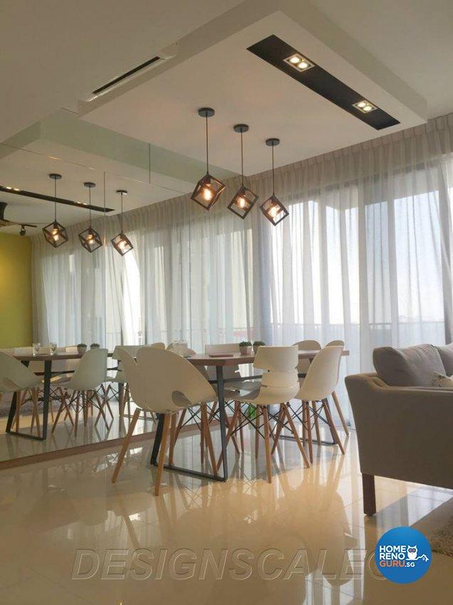 Modern, Scandinavian Design - Dining Room - Condominium - Design by Designscale Pte Ltd