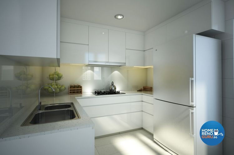 Minimalist Design - Kitchen - Condominium - Design by Designscale Pte Ltd