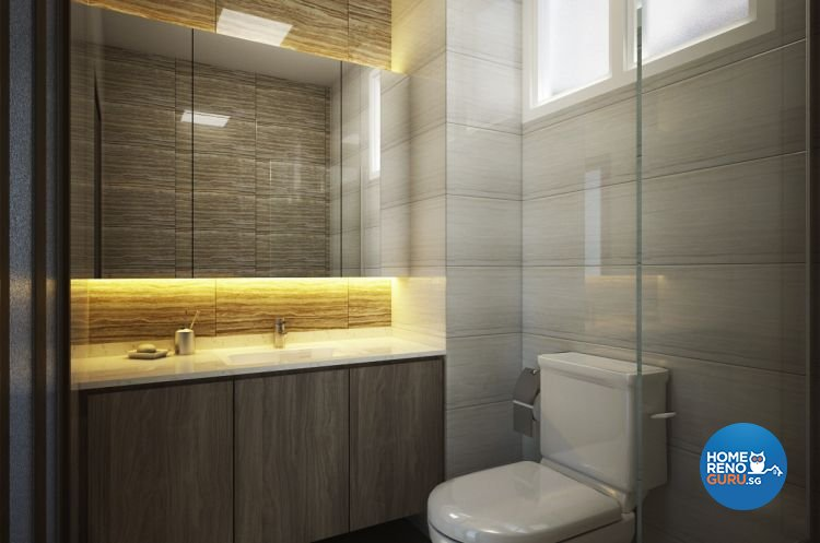Minimalist Design - Bathroom - Condominium - Design by Designscale Pte Ltd