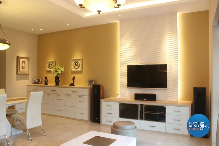 Contemporary, Modern Design - Living Room - Condominium - Design by D'esprit Interiors Pte Ltd