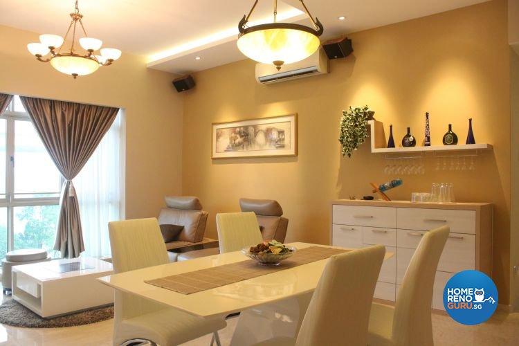 Contemporary, Modern Design - Dining Room - Condominium - Design by D'esprit Interiors Pte Ltd