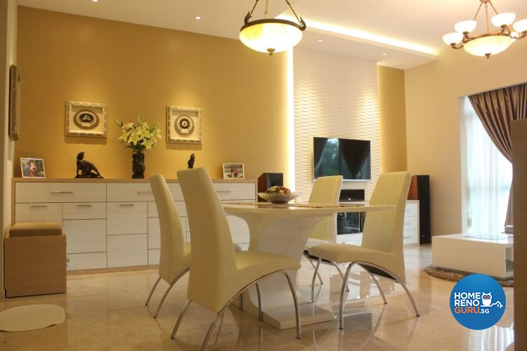 Contemporary, Modern Design - Dining Room - Condominium - Design by D'esprit Interiors Pte Ltd
