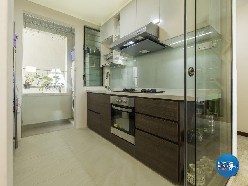 Modern Design - Kitchen - Condominium - Design by D'esprit Interiors Pte Ltd