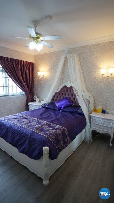 Classical, Modern, Victorian Design - Bedroom - HDB 4 Room - Design by D'esprit Interiors Pte Ltd