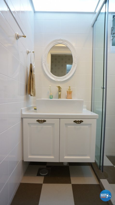 Classical, Modern, Victorian Design - Bathroom - HDB 4 Room - Design by D'esprit Interiors Pte Ltd