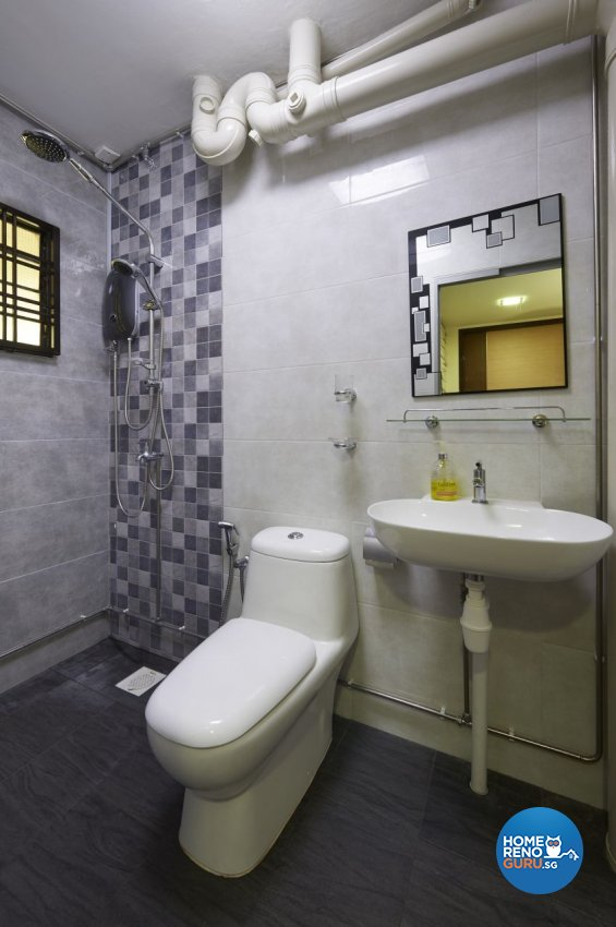 Rustic Design - Bathroom - HDB 5 Room - Design by Dezign Culture