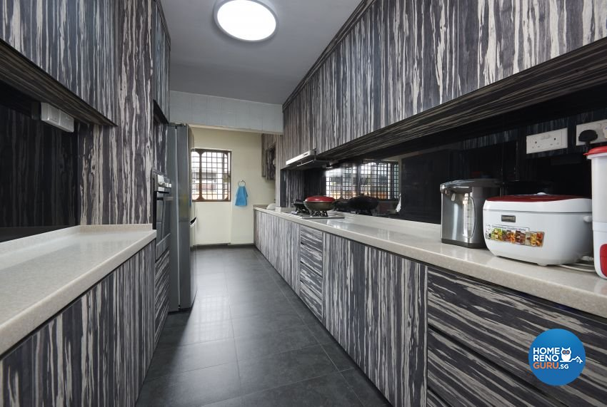 Rustic Design - Kitchen - HDB 5 Room - Design by Dezign Culture