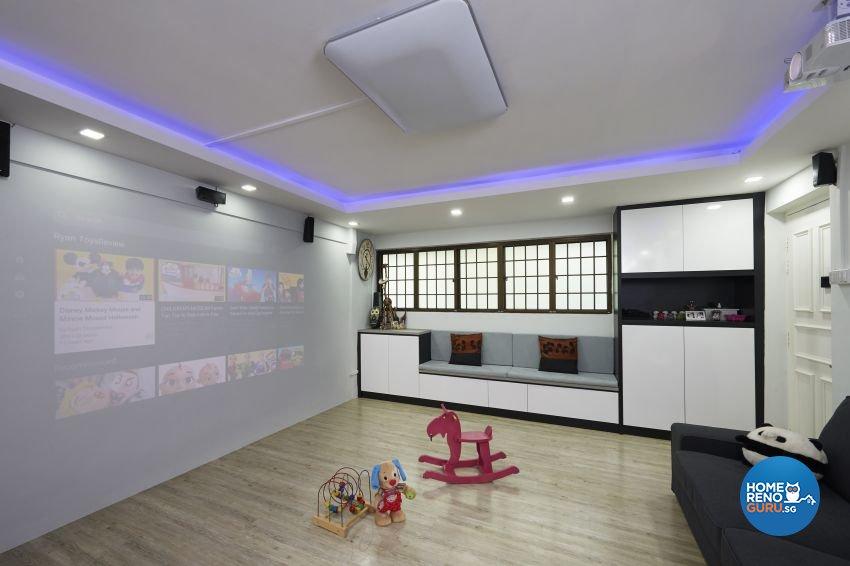 Eclectic Design - Living Room - HDB 4 Room - Design by Dezign Culture