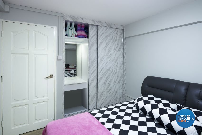 Eclectic Design - Bedroom - HDB 4 Room - Design by Dezign Culture