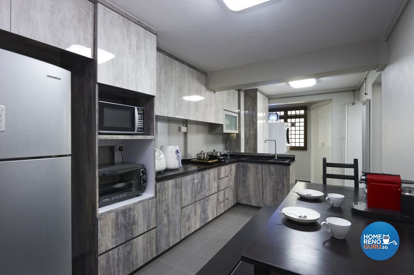Eclectic Design - Kitchen - HDB 4 Room - Design by Dezign Culture