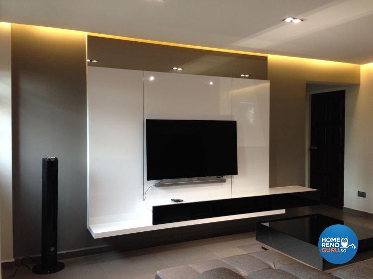 Modern Design - Living Room - HDB 5 Room - Design by Dezign Culture