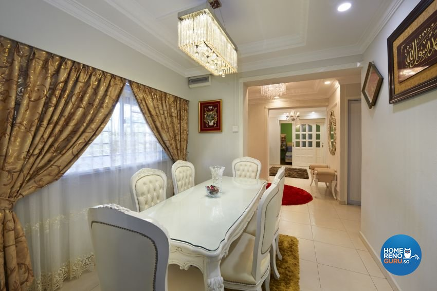 Victorian Design - Dining Room - HDB 5 Room - Design by Dezign Culture