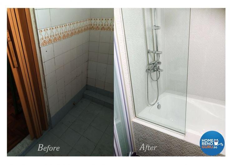 Classical Design - Bathroom - HDB 5 Room - Design by Dezign Culture