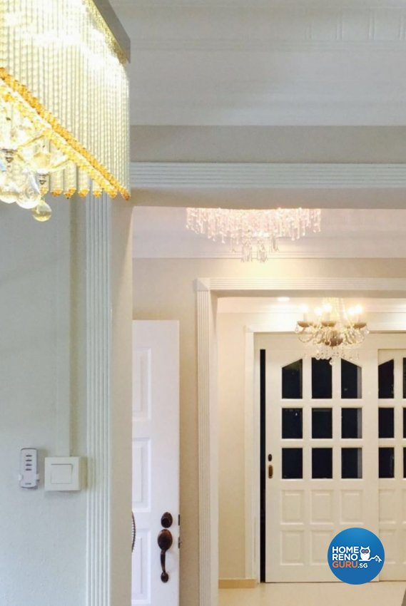 Classical Design - Living Room - HDB 5 Room - Design by Dezign Culture